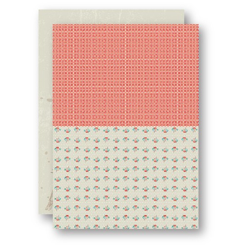 Background Sheets A4 salmon roses