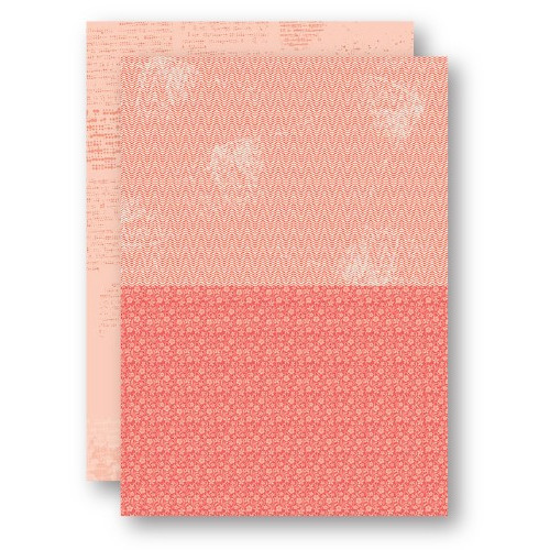 Background Sheets A4 salmon flowers-2