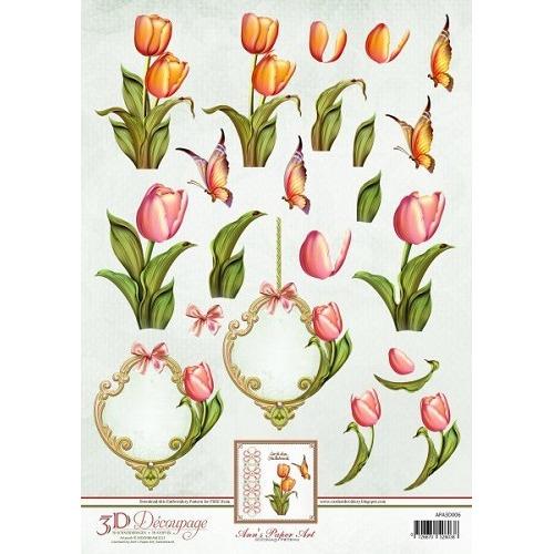 3D Knipvel - Ann Paper Art - Tulips