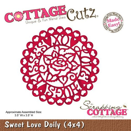 Scrapping Cottage Sweet Love Doily (4x4)