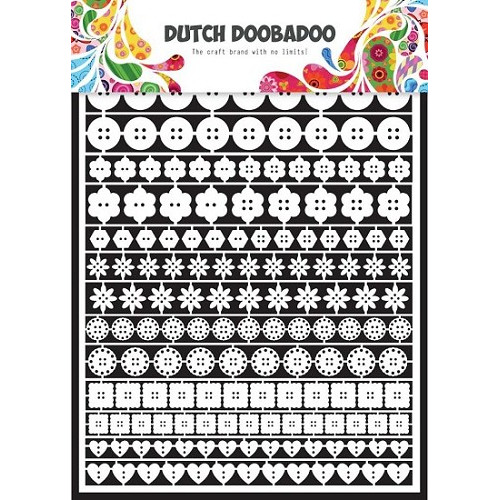 Dutch Doobadoo - Laserfiguren A5 - wit - buttons