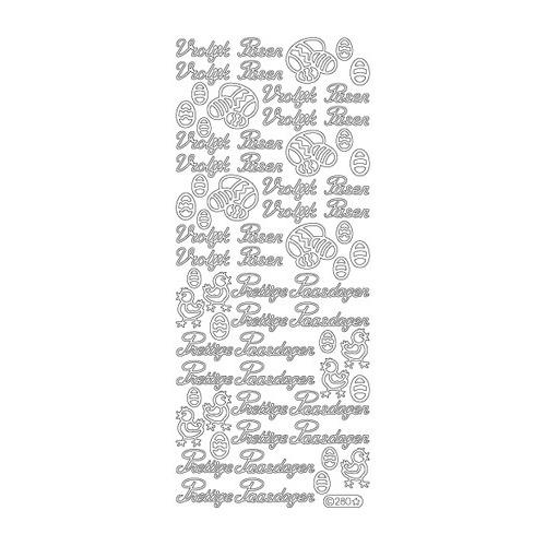 Tekst NL Pasen: Vrolijk Pasen - Gold/Gold