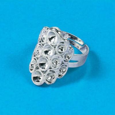 Ring Basis Zilver kleur ovaal 12011-1008