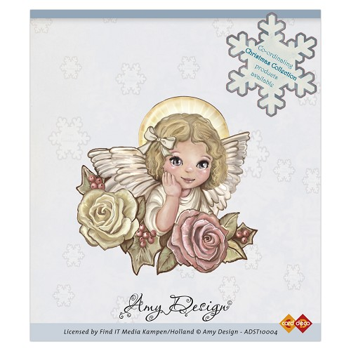 Amy Design - Clear Stamp - Angel with roses