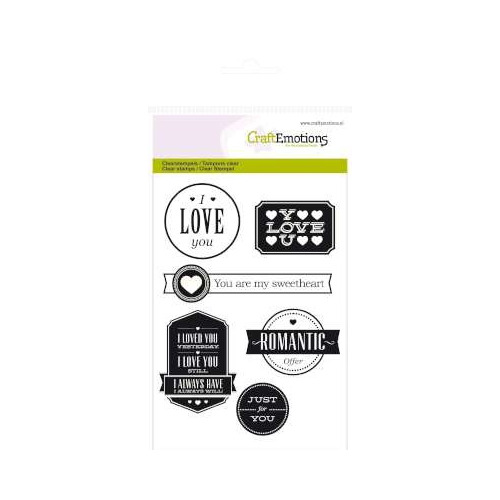 CraftEmotions clearstamps A6 - teksten Love (engels)
