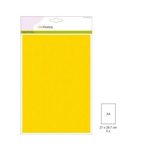 (1 PK) Papiervel-CV goudgeel 5 ST A4 90GR