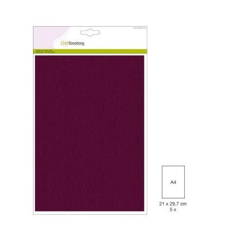(1 PK) Papiervel-CV bordeaux 5 ST A4 90GR