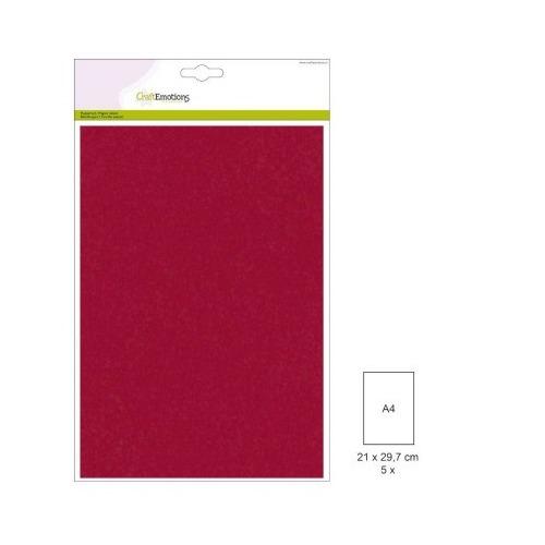 (1 PK) Papiervel-CV donkerrood 5 ST A4 90GR