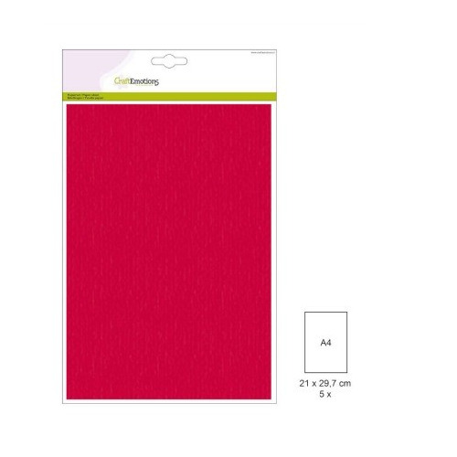 (1 PK) Papiervel-CV rood 5 ST A4 90GR