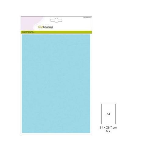 1 PK (1 PK) Papiervel-CV lichtblauw 5 ST A4 90GR