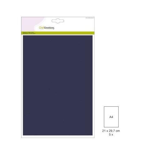 (1 PK) Papiervel-CV marineblauw 5 ST A4 90GR