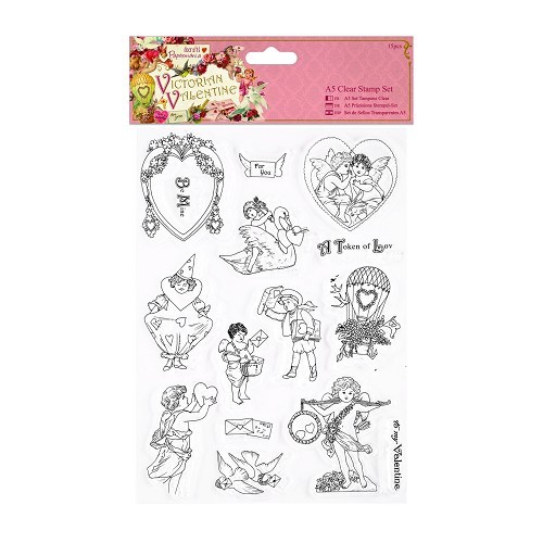 Clear Stamps Set - Victorian Valentine
