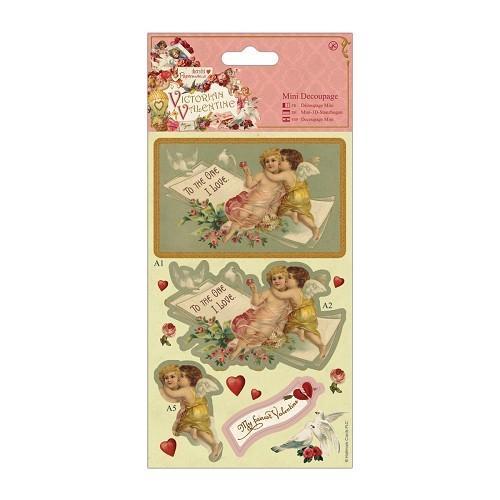 Mini Decoupage - Victorian Valentine - Cherubs