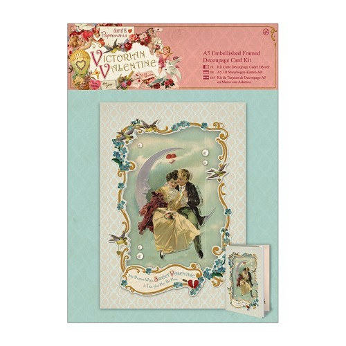 Embellished Framed Decoupage Card Kit - Victorian Valentine