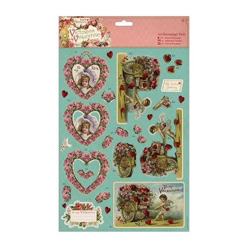 Decoupage Pack - Victorian Valentine - Hearts
