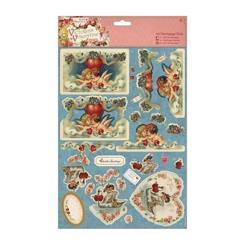 Decoupage Pack - Victorian Valentine - Cherubs