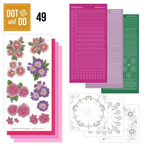 Dot & Do 49 - Roze Bloemen