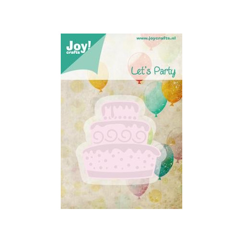 Joy! stencil taart Cutting & Embossing