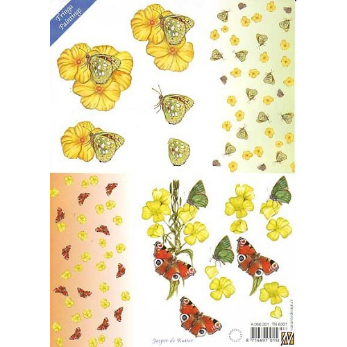 Knipvel Tringa paintings  vlinders
