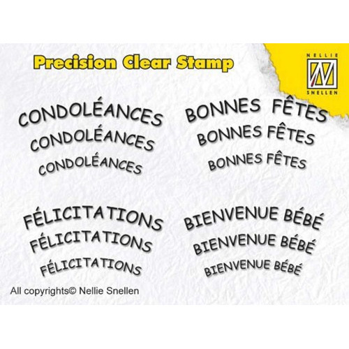 nellie snellen- precision clear stamp - french text 2