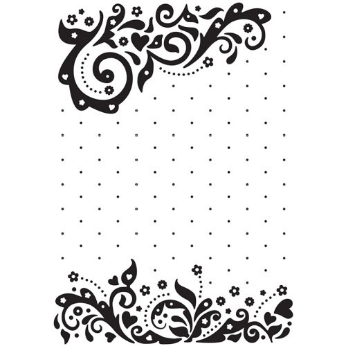Embossing folder - Vintasia Celebration