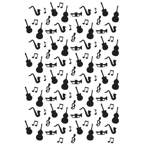 Embossing folder - Vintasia Music