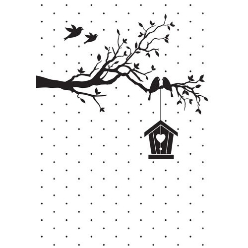 Embossing folder- Vintasia home