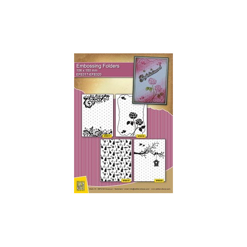 Embossing folder SET - Celebration/Love/Music/Home