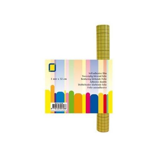 Rol Dubbelzijdig kleeffolie transparant 32cmx1mtr