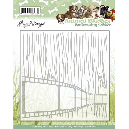 Embossing Folder - Amy Design - Animal Medley