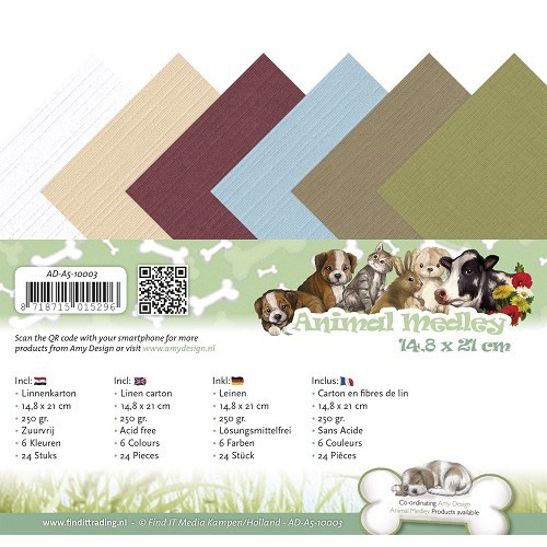 Linnenpakket - A5 - Amy Design - Animal Medley