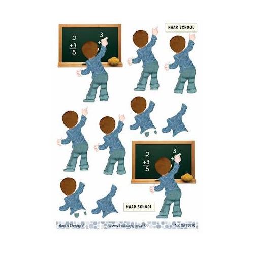 stappenvel A4 naar school - jongen Barto Design