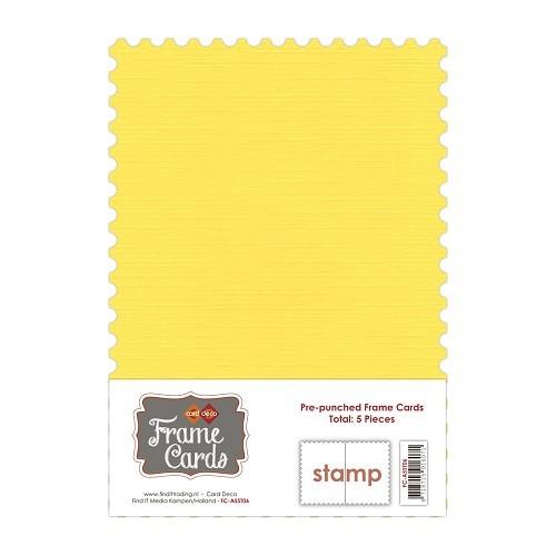 Frame Cards - A5 - Kanarie geel