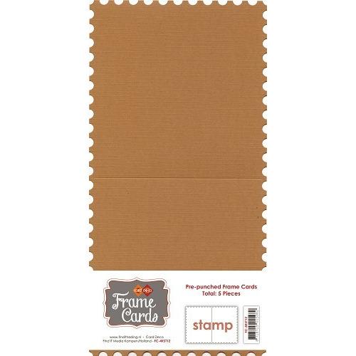 Frame Cards - Vierkant - Koffiebruin