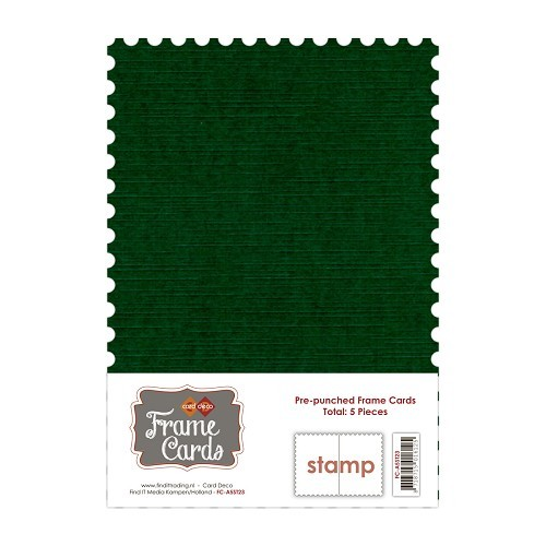 Frame Cards - A5 - Kerst groen