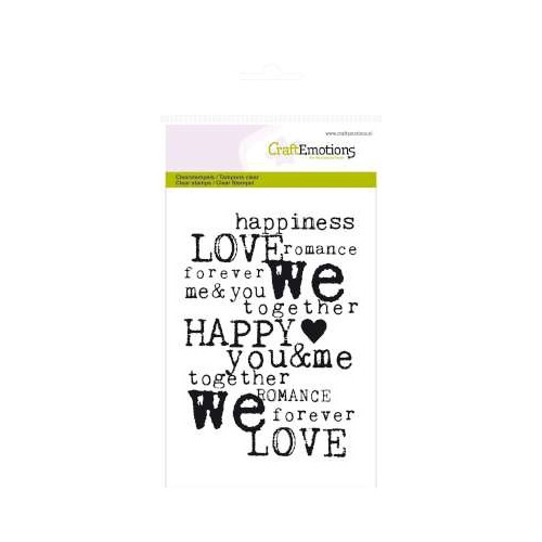 CraftEmotions clearstamps A6 - achtergrond Love