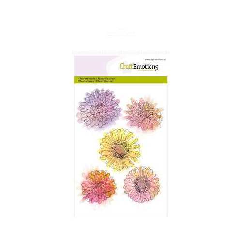 A6 Clearstamps - Chrysanten bloem Botanical Summer