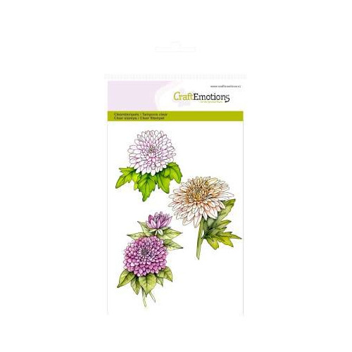 A6 Clearstamps - Chrysanten tak Botanical Summer