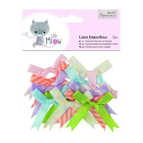 Large Ribbon Bows (12pcs) - Little Meow