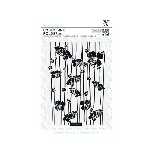 A5 Embossing Folder - Blossom Stripes