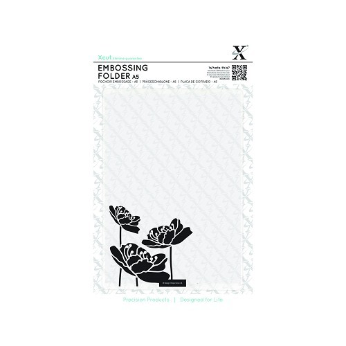 A5 Embossing Folder - Large Blossom