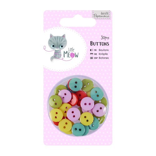 Buttons (30pcs) - Little Meow