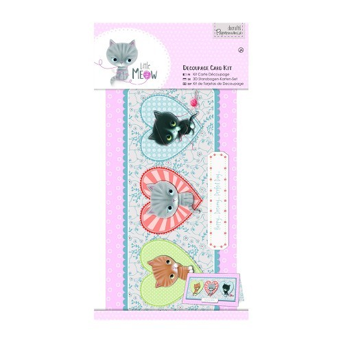 Decoupage Card Kit - Little Meow