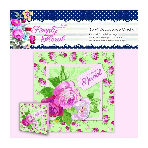 6 x 6'' Decoupage Card Kit - Simply Floral - Someone Special
