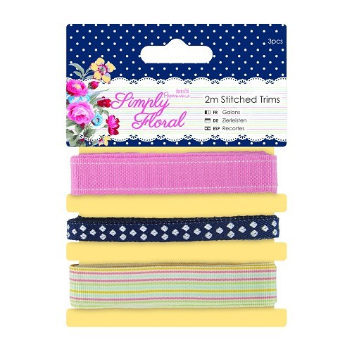 2m Stitched Trims (3pcs) - Simply Floral