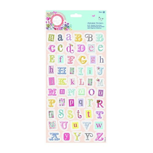 Alphabet Stickers Foiled (58pcs) - Bellissima