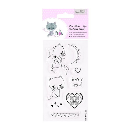 75 x 140mm Mini Clear Stamp - Little Meow - Someone Special