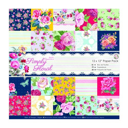 12 x 12 Paper Pack (32pk) - Simply Floral