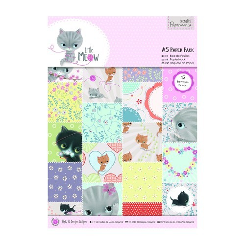A5 Paper Pack (42pk) - Little Meow
