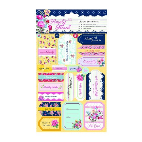 Die-cut Sentiments (2pk) - Simply Floral